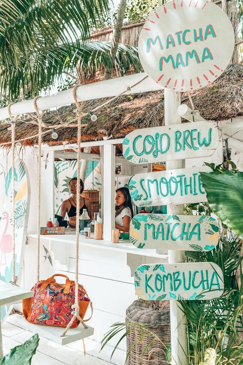 Boho vibes and jungle goodness are the norm in Tulum and sipping smoothies at this little bar was one of my favorite things to do on our day trip to Tulum from Playa del Carmen. Beach Aesthetic, Summer Aesthetic, Blue Aesthetic, Travel Aesthetic, Tulum, Bedroom Wall Collage, Photo Wall Collage, Picture Collages, Photo Bleu