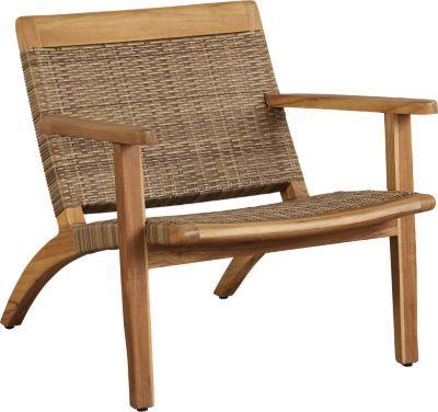 Hagen Tan Teak Outdoor Chat Chair Teak Outdoor Outdoor Chairs Furniture