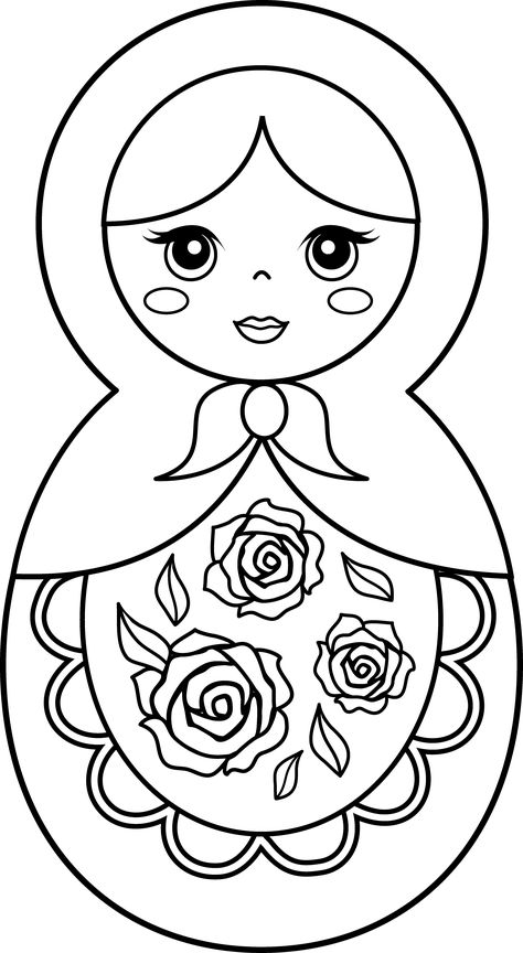 Matryoshka Doll Coloring PageYou can find Matryoshka doll and more on our website.Matryoshka Doll Coloring Page Matryoshka Doll, Kokeshi Dolls, Colouring Pages, Coloring Books, Free Coloring, Doll Drawing, New Dolls, Felt Crafts, Embroidery Patterns