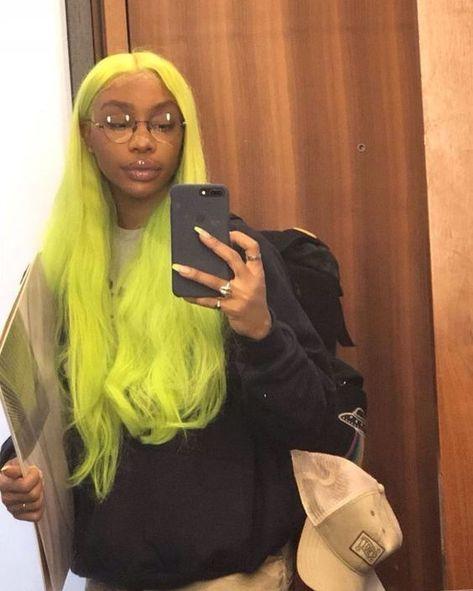 #greenhair #longhair #hairstyle #lacefrontwig