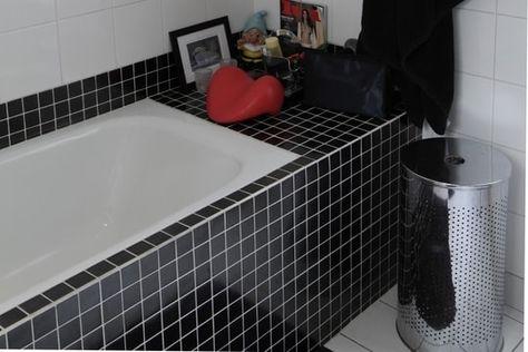 Une mosaïque noir élégant
