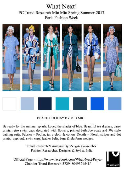 #MiuMiu #MiucciaPrada #SS17 #MiuMiuSS17 #ParisFashionWeek #PFW #womenswear #bathrobes #swimcaps #blue #teadress #daisyprints #applique #beachwear #fashionista #runway #readytowear #springsummer2017 #fashionindustry #fashionweek #fashionforcast #fashionnews #fashionresearch #PriyaChander #whatnextpctrendresearch #platformwedges #dresses #fashiondesigner