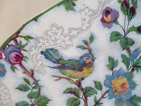 Vintage Midwinter Bluebird Chintz Dessert Plate with Bluebirds Design from ivyroseantiques on Ruby Lane