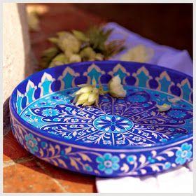 Bringing Home Craft By World Market Ceramic Tableware Serving Platters Blue Pottery