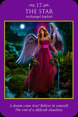 "Daily Angel Oracle Card, from the Archangel Power Tarot deck, by Doreen Virtue, Ph.D: Archangel Jophiel ~ The Star Archangel Jophiel ~ The Star ""A dream come true! Believe in yourself. Doreen Virtue, Angel Guidance, I Believe In Angels, Oracle Tarot, Angels Among Us, Angel Cards, Guardian Angels, Romance, Star Wars"