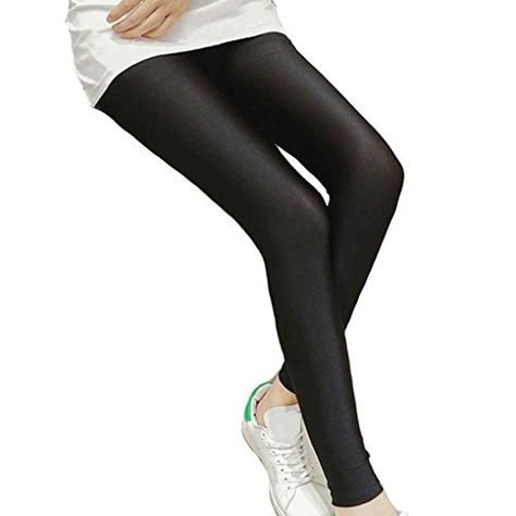 fc6f6758f08ed Women Shiny Thin Tights Full Ankle Length Stretch Pants Basic Leggings,# Tights, #Full, #Thin, #Women