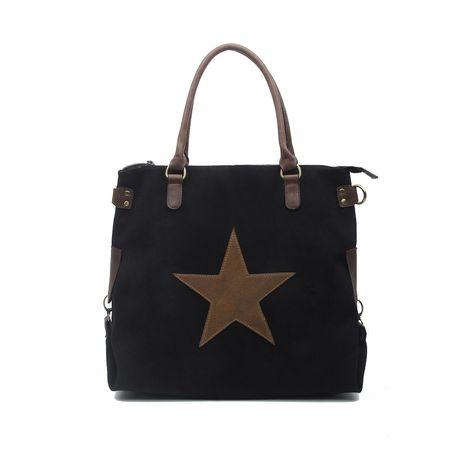 tasche bags schultertasche damentasche handtasche mit stern leder italien beige