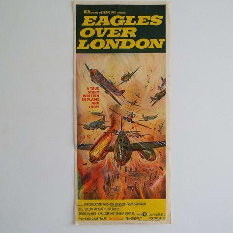 Vintage 1969 Eagles Over London Australian Daybill Film Movie | Etsy