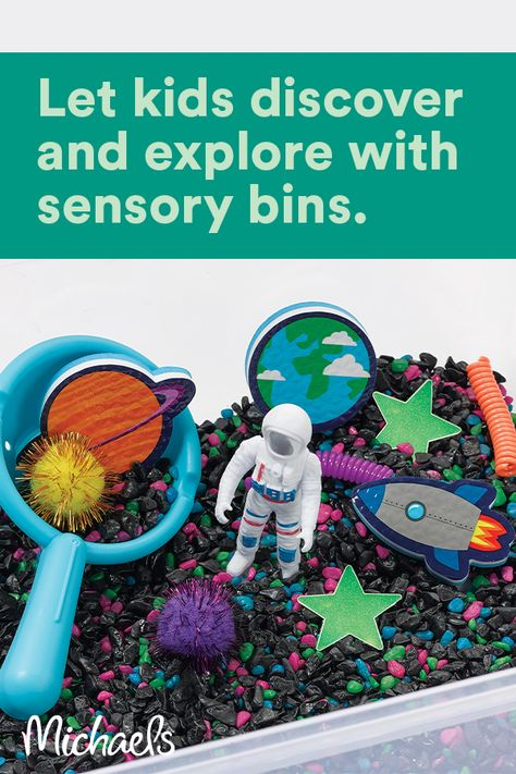 Give mini makers new ways to explore their world and encourage imaginative play with sensory bins.