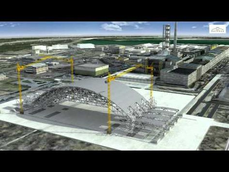 Novarka's New Safe Confinement system designed to entomb Chernobyl's Reactor 4 for the next 100 years. Due to failing structural integrity and seismic activity in the area, this new containment structure is critical to ensuring Reactor 4 doesn't spread contamination world wide.