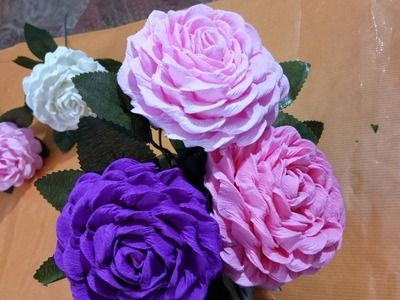 Paper How To Make Flower Bouquet With Color Paper Decor