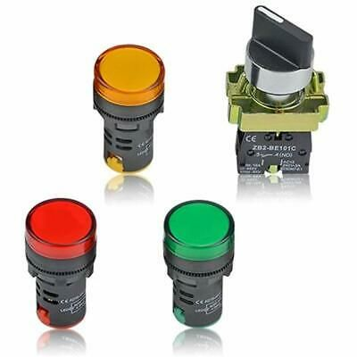 Details About 4pcs Energy Saving Led Indicator Light Ad16 22d S Ac Dc 110v 20ma Red Green And Indicator Lights Save Energy Led Indicator