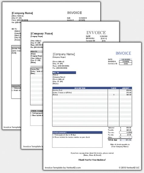 Free accounting and invoicing software for small business   - blank invoice document