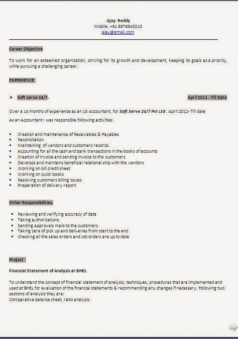 download sample resume Sample Template Example ofExcellent - resume samples word