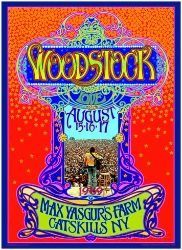 Woodstock 45th Anniversary Art Print