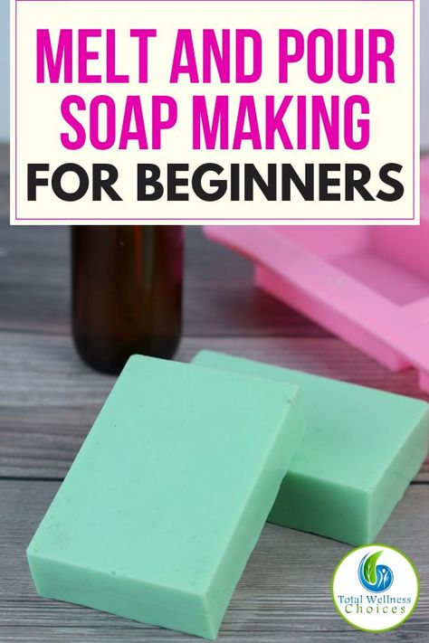 This melt and pour soap making technique for beginners includes supplies, step-by-step directions and an easy to make DIY melt and pour soap recipe to help you learn how to make soaps at home. Making melt and pour soap is a fun and easy craft to lear Soap Making Recipes, Homemade Soap Recipes, Soap Melt And Pour, Essential Oils Soap, Soap Making Supplies, Glycerin Soap, Castile Soap, Goat Milk Soap, Recipes For Beginners