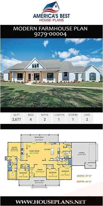 Oct 14 2019 A Stunning Single Story Modern Farmhouse Plan 9279 00004 Details 2 677 Sq F House Plans Farmhouse Modern Farmhouse Plans Farmhouse Floor Plans