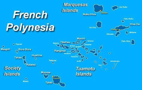 Map Of French Polynesia Society Islands Bora Bora Typuai
