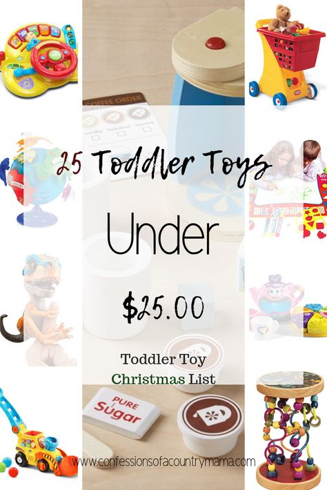 Christmas can be such a stressful time of year. Let me help you with your shopping list! These are some great toys that your tot will love. All of them are under 25 bucks! #christmasshopping #kidstoys #cheaptoys #toysfortoddlers #amazonprime #toddlerchristmas