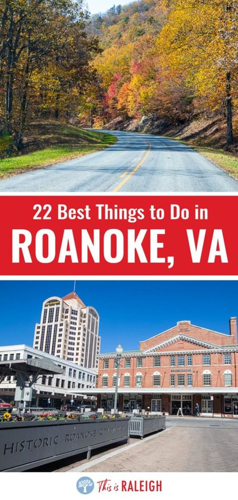 Planning to visit Roanoke? Check out this list of 22 things to do in Roanoke VA for your next Virginia road trip. Included are tips on attractions, places to eat in downtown Roanoke, driving the Blue Ridge Parkway and much more. Don't visit Vorginia without considering Roanoke. #Virginia #Roanoke #BlueRidgeMountains #BlueRidgeParkway #roadtrips #travel #mountains