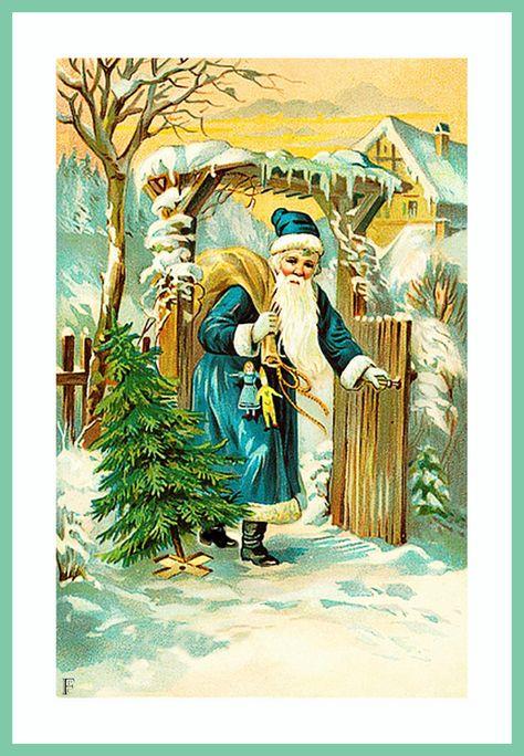 Visite Du Pere Noel Noel Photo Noir Et Blanc Et Cartes