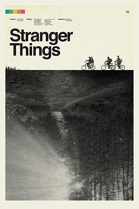 Stranger Things Retro Paper Posters and Prints Unframed Wall Art Gifts 12x18