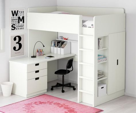 Hochbett Stuva Von Ikea Inklusive Schreibtisch Hochbett Mit