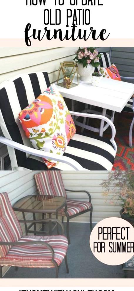 How To Update Old Patio Furniture At Home With Ashley In 2020 Billige Gartenmöbel Terrasse Selber Machen Terrassenmöbel