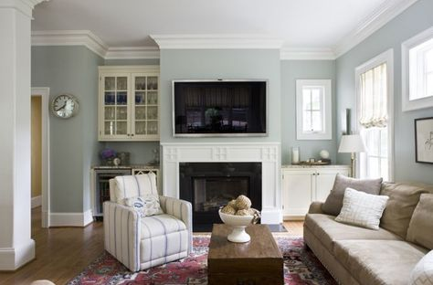 Wall color is Benjamin Moore Tranquility from House of Turquoise: Lily Mae Design