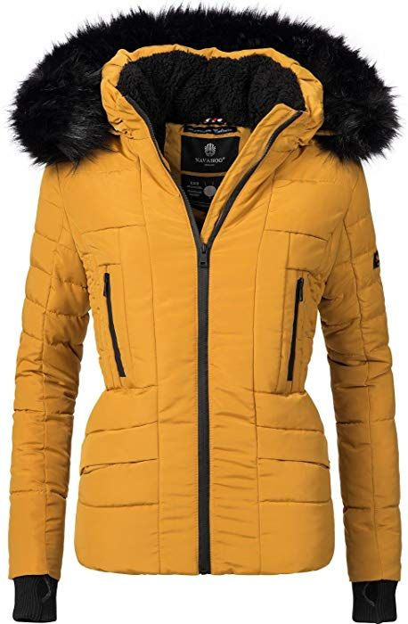 Navahoo Damen Winter Jacke Steppjacke Adele (vegan