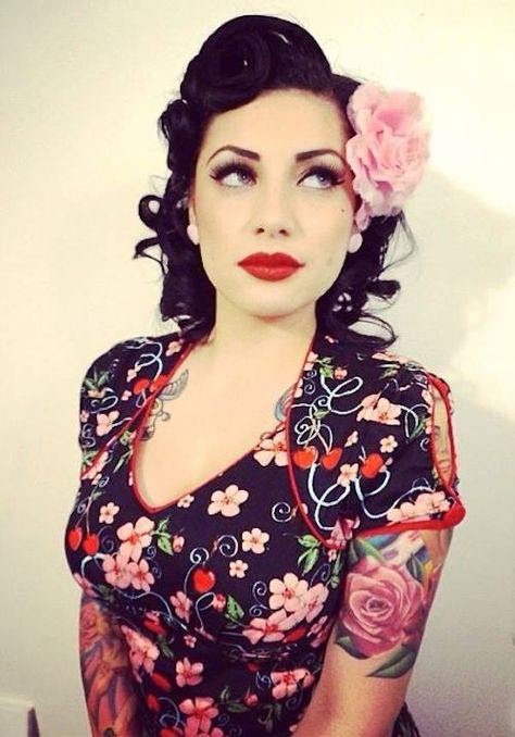 Short pin up hair.    http://thepinuppodcast.com features pinup models and pin up photographers.