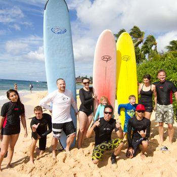 Poipu Beach Surf School Kauai Surf School Lessons With Images Poipu Beach Surf School Surf Lesson