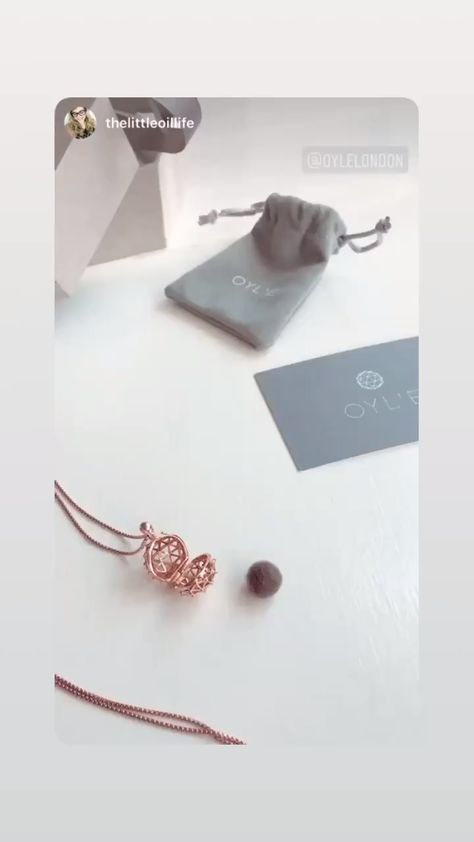 Rose Gold Essential Oil Diffuser Necklace