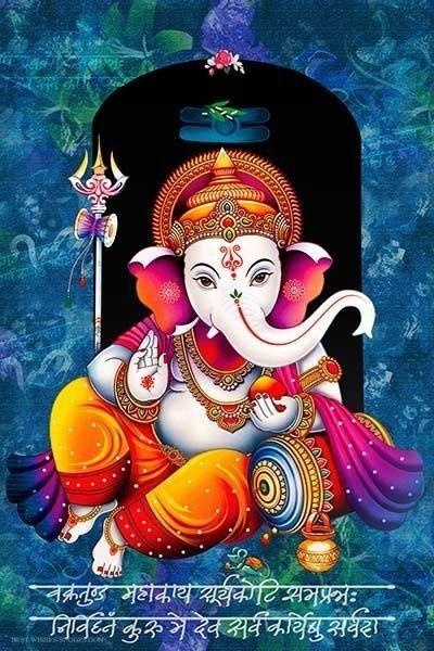 Ganesh Chaturthi Mobile Wallpaper Free Download Download Free Ganeshchaturthimobilewallpaper Lord Ganesha Paintings Ganesha Art Ganesha Painting