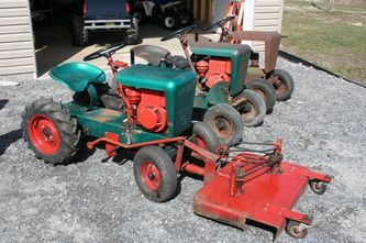 Our Garden Tractors Rare Garden Tractors Garden Tractor Tractors Homemade Tractor