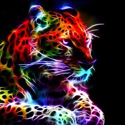 Full Drill 5D DIY Diamond Painting Color Leopard Embroidery Cross Stitch Decor