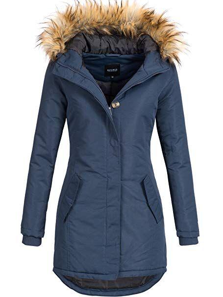 DESIRES Damen Envy Parka Lange Jacke Designer Winter Mantel