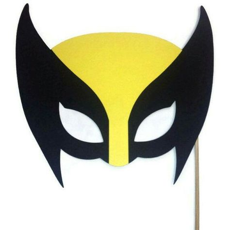 wolverine felt mask with free template from my blog sunshine and rh pinterest com Wolverine Claw Logo Wolverine Animal Face Logo
