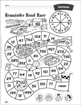 Remainder Road Race Division Activity Division Activities Division Math Games Teaching Division