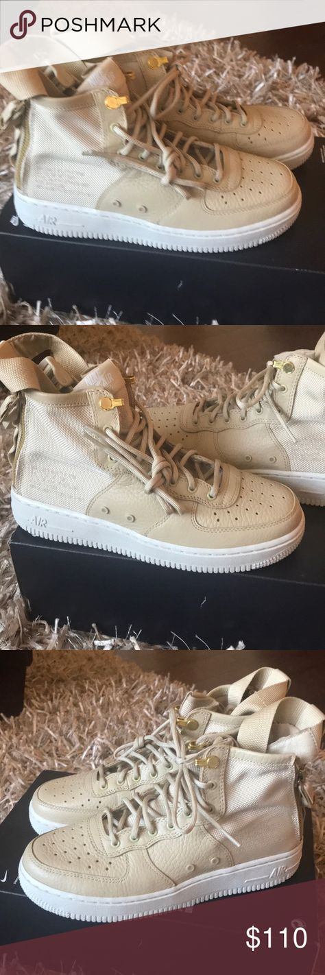 finest selection 6bee1 295f9 Nike SF Air Force 1 Mid Sneakers Beige Leather Brand new pair of sneakers  missing box
