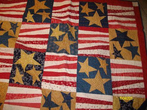 Buggy Barn Triple Stars & Stripes Quilt
