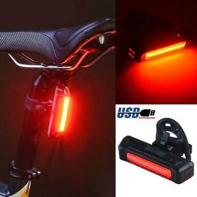 Rechargeable Bicycle Light LED USB Charging Bike Rear Tail Light