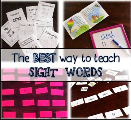 Mrs. Thompson's Treasures : The Best Way to Teach Sight Words - activities, games, resources
