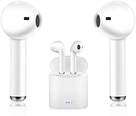 Amazon Com Bluetooth Earbuds Manords Headphones Stereo In Ear Earphones Noise Cancelling For Apple Airpods Iphone X 8 8pl Bluetooth Earbuds Earbuds Headphones