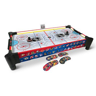 The Nhl Rivalry Tabletop Air Hockey Game Hammacher Schlemmer In 2020 Air Hockey Games Air Hockey Hockey Games