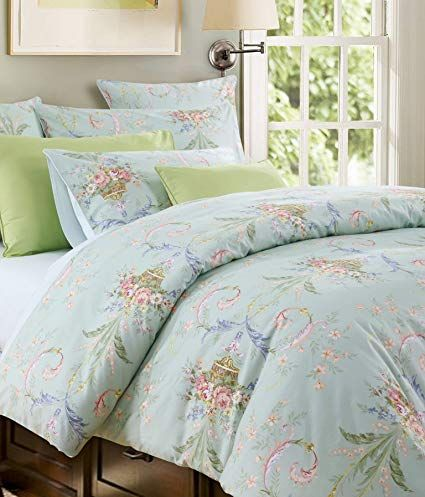 Softta Luxury European Floral Bedding Green King Size 4 Pcs 1 Duvet Cover 2 Pillowcases 1 Flat Sheet 100 Egyptian Co Green Bedding Green Bedding Set Comfy Bed