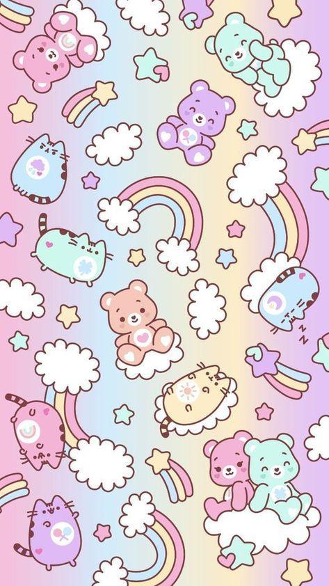 Seni Pastel Kartu Lucu Kartu Bayi Cool pastel kawaii cute wallpaper for