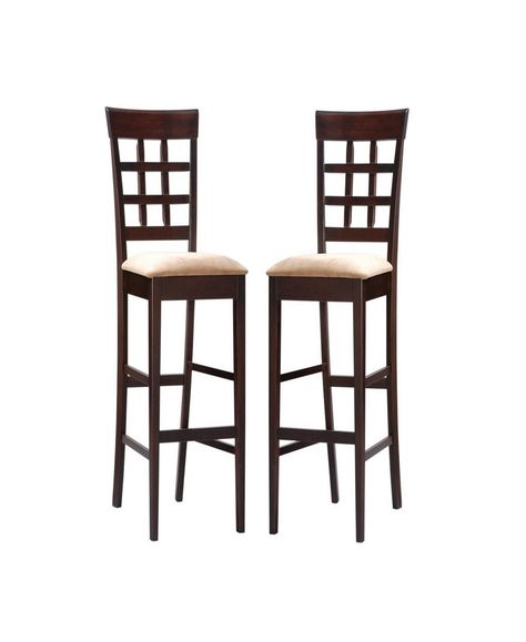 Wooden Swivel Bar Stools With Back 30 Inches Seat Cushion Brown