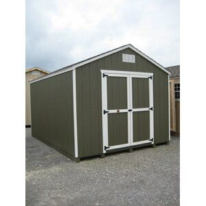 10ft W X 12ft D Storage Shed Kit Brackets Only In 2020 With Images Wood Storage Sheds Storage Shed Kits Wooden Storage Sheds