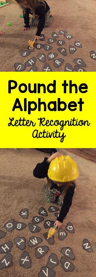 Pound the Alphabet Letter Recognition Activity